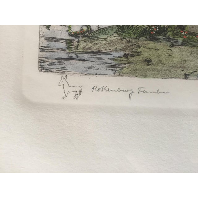 Original Bavarian Etching - by Ernst Geissendorfer For Sale In Seattle - Image 6 of 8