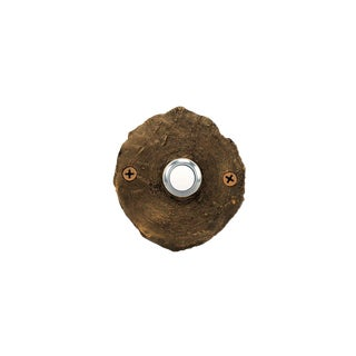 Log End Classic Doorbell with Traditional Patina For Sale