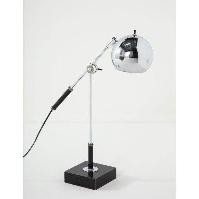 Metal Chrome Midcentury Adjustable Desk Lamp For Sale - Image 7 of 13