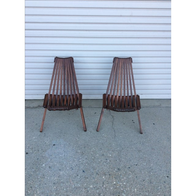 Beach Folding Chairs - A Pair - Image 2 of 11