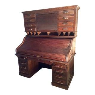 Nat'l. Mt. Airy c.e.o. Roll Top Desk For Sale