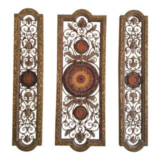 Venetian Resin and Wood Wall Art - Set of 3