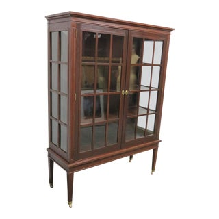 Arts & Crafts Mahogany China Cabinet For Sale