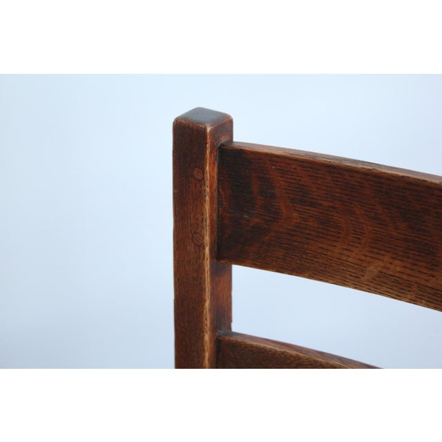 Brown 1900s Antique L & Jg Stickley Rocking Chair For Sale - Image 8 of 12