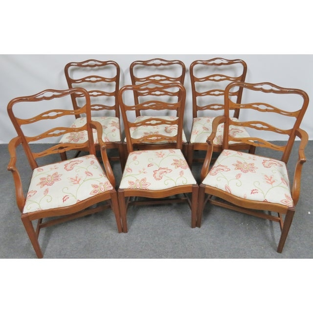 Saybolt & Cleland hand made Chippendale dining chairs , solid mahogany , ribbon backs design backs with Marlboro legs ,...