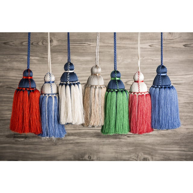 Traditional Navy & White Tassel, Medium For Sale - Image 3 of 4