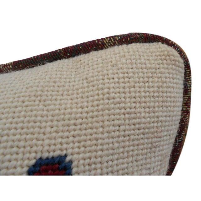 Jonathan Adler Style Vintage Chinoiserie Geometric Vase Needlepoint Pillow - Image 3 of 5