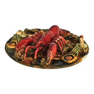 English Majolica Lobster Plate For Sale