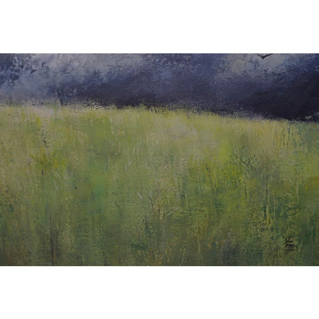 "White Mid-Century Modern ""Wheatfield"" Oil Painting by Joseph Barber C.1960 For Sale - Image 8 of 11"