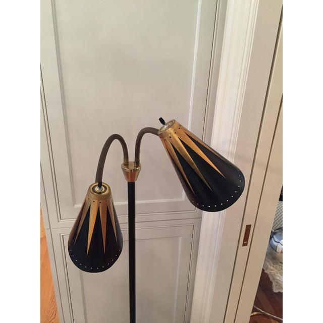 Black and Gold Retro Floor Lamp - Image 4 of 7