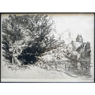 Auguste Louis Lepere Etching Signed Proof For Sale