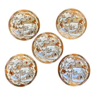 Chinoiserie Decorative Plates - Set of 5 For Sale