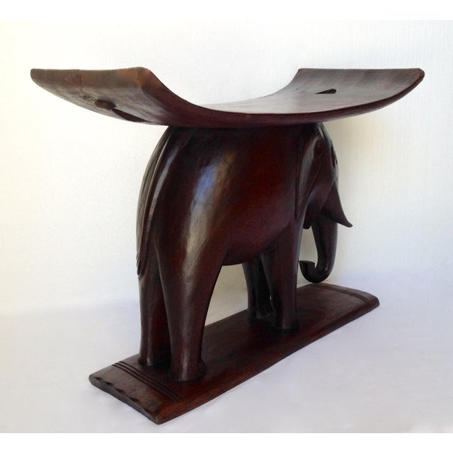 Wood 1920s Vintage African Ghana Elephant Ashanti Bench For Sale - Image 7 of 11
