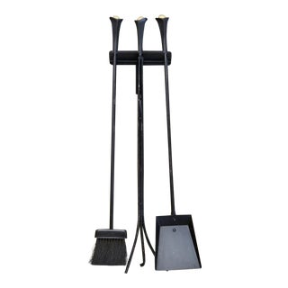 Wall Hung Donald Deskey Fireplace Tools For Sale