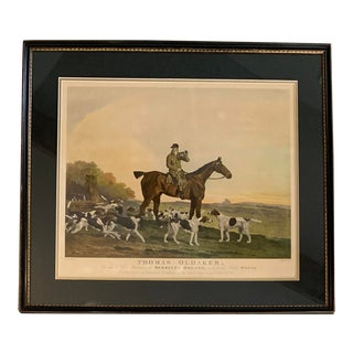 1820s Thomas Oldaker Berkeley Hounds Hunting Dog Horse Lithograph Print For Sale