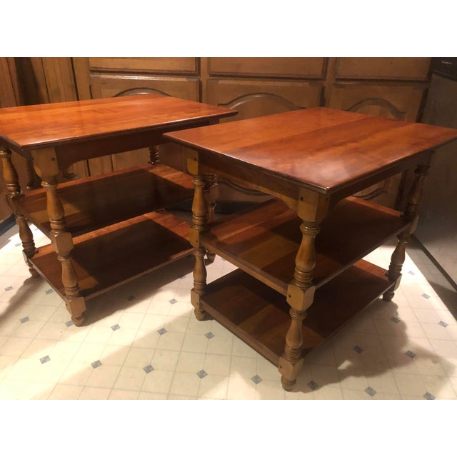 Mid-Century Modern 1950s Cherry Stickley End Tables - a Pair For Sale - Image 3 of 13