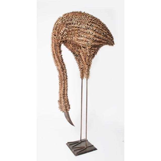 Bamboo and Metal Emu Sculpture - Image 2 of 5