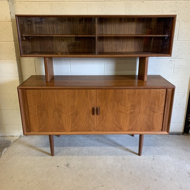 Svend Aage Larsen for Faarup Danish Modern Teak China Cabinet Bookcase Credenza For Sale - Image 11 of 11