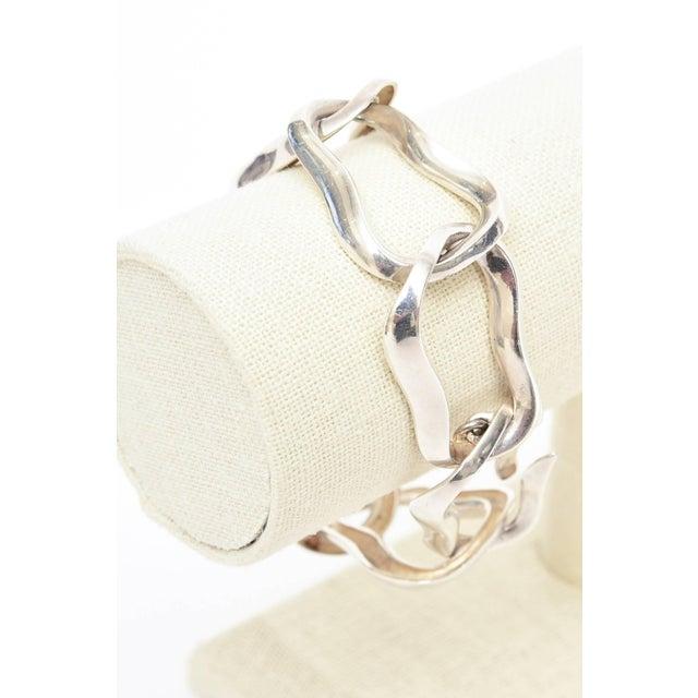 Angela Cummings for Tiffany Sterling Silver Modernist Sculptural Link Bracelet For Sale In Miami - Image 6 of 8