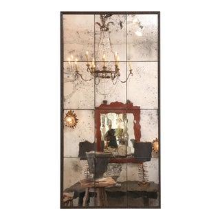 Paneled Steel Framed Mirror For Sale