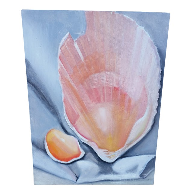 Unsigned Seashell Painting on Canvas - Image 1 of 3