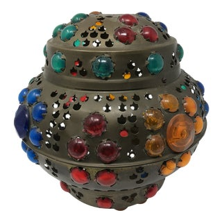 Antique Bejeweled Lantern For Sale