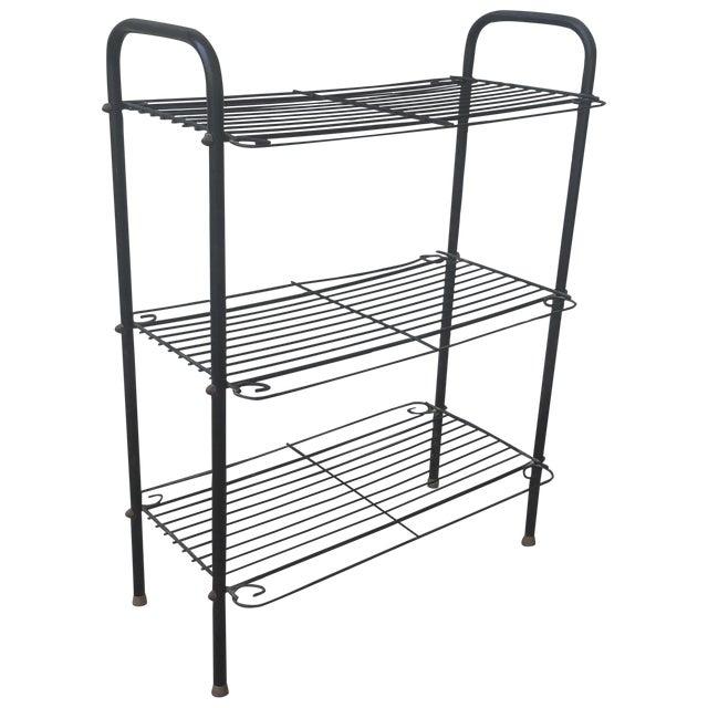 Mid-Century Curved Wire Three Shelf Unit - Image 1 of 12