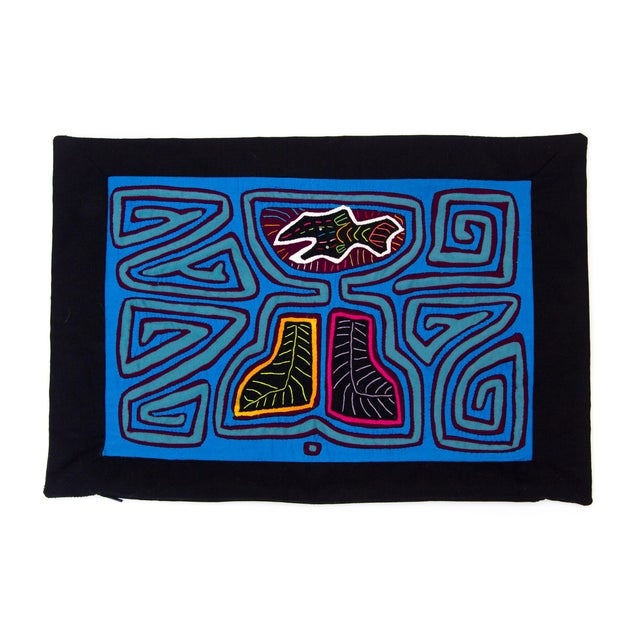 Abstract Textile Pillowcase - Handmade in Panama - Image 1 of 4