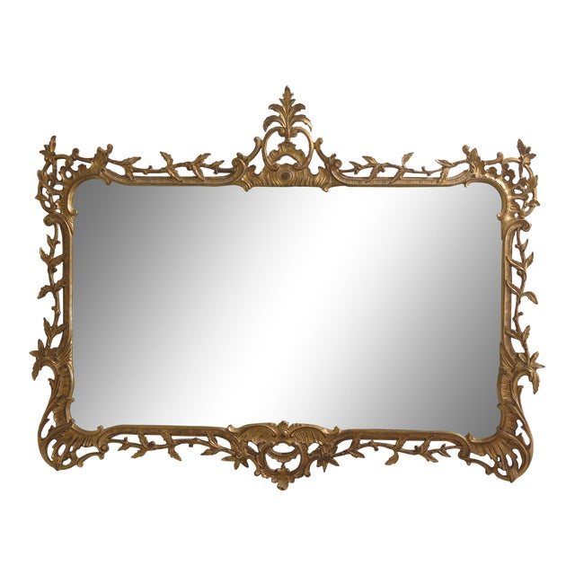 Carvers Guild Highly Carved Frame Gold Mirror For Sale