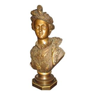 19th C. Bronze Nobleman Sculpture For Sale