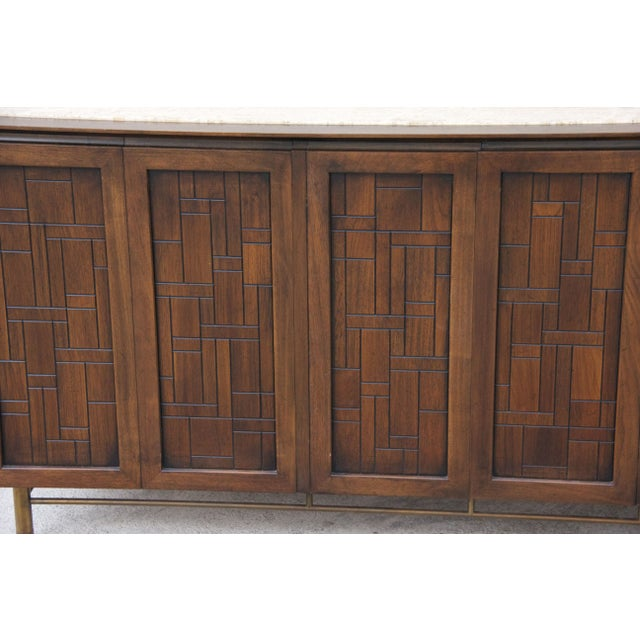 Mid-Century Modern Johnson Furniture Mid-Century Patchwork Credenza For Sale - Image 3 of 7