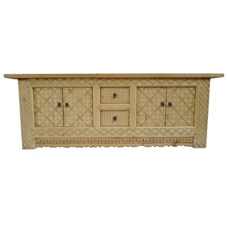 Raw Wood Media Cabinet