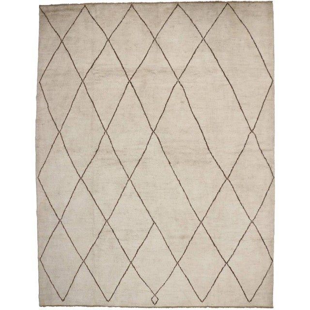 Contemporary Moroccan Style Rug with Modern Design For Sale - Image 5 of 5