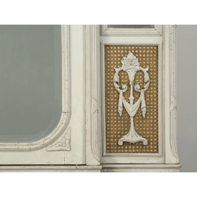 1900 - 1909 Antique French Original Painted Armoire, Circa 1900 For Sale - Image 5 of 10