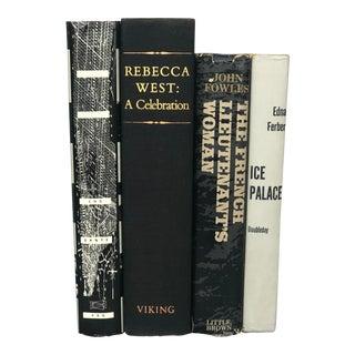 Black & Gray Vintage Books - Set of 4 For Sale