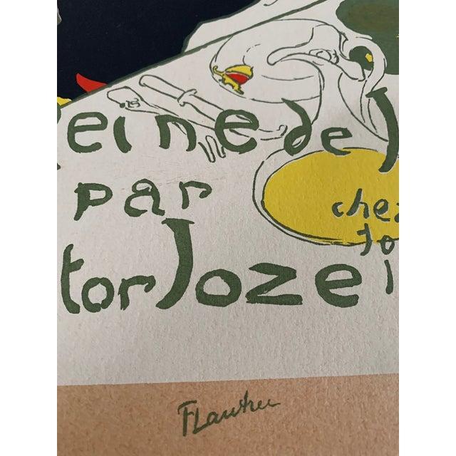 Toulouse-Lautrec Vintage 1940's Toulouse Lautrec Original Silkscreen Print Reine De Joie 1892 For Sale - Image 4 of 7