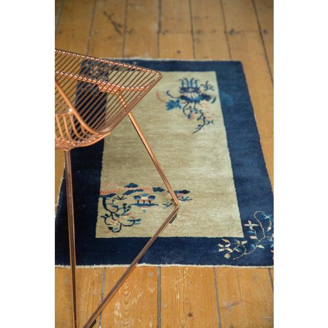 """Vintage Peking Rug Runner - 2' x 3'11"""" - Image 8 of 8"""