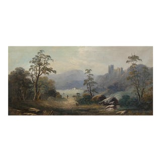 Cottage on an English Landscape -18th Century Oil Painting