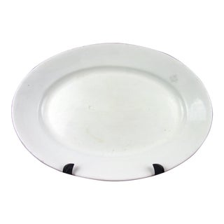 Mid 19th Century Antique White Ironstone Platter English For Sale