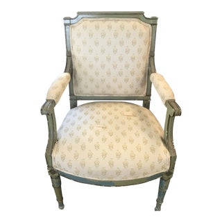 Early 20th Century Louis XV Floral Chair For Sale