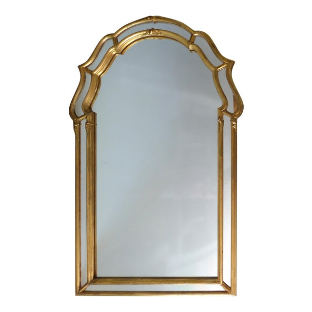 Italian Scrolled Panel Gilt-Wood Mirror - Image 1 of 7
