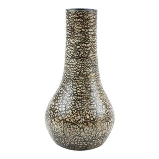 Modern Ceramic Vase After Jean Gerbino's Neriation Technique For Sale