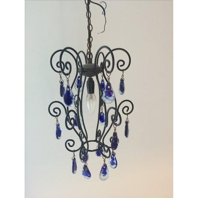 Blue Murano Teardrop Pendant - Image 2 of 5