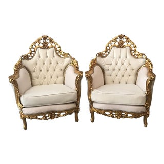 Antique Italian Rococo Single One Chair For Sale