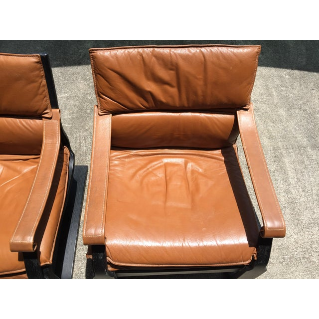 Nelo Sweden Leather Armchairs - A Pair For Sale In West Palm - Image 6 of 8