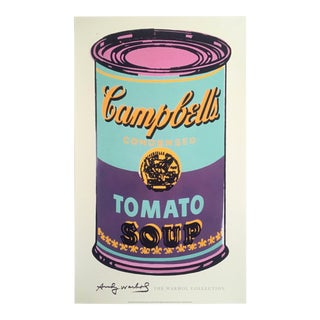 "Andy Warhol Foundation Lithograph Print Pop Art Poster "" Campbell's Soup Can ( Green & Purple ) "" 1965 For Sale"