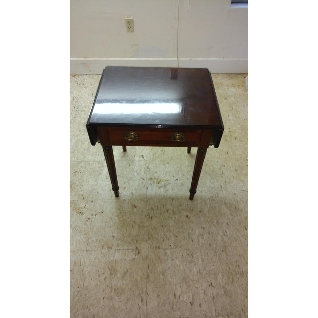 Duncan Phyfe-Style Drop Leaf Side Table - Image 3 of 7