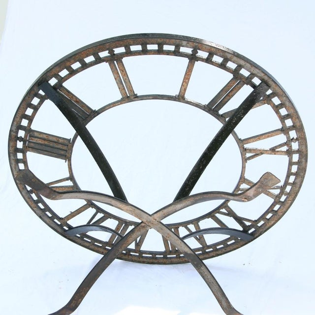 Iron Antique Cast Iron Clock Face Coffee Table For Sale - Image 7 of 11