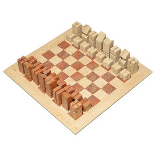 Angelo Mangiarotti - Chess Game - Italy Circa 1950 For Sale