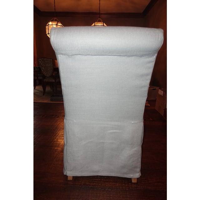 2010s Restoration Hardware Hudson Roll-Back Slipcovered Armchairs - Set of 4 For Sale - Image 5 of 8